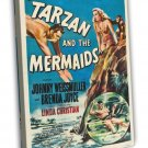 Tarzan And The Mermaids 1948 Vintage Movie FRAMED CANVAS Print 2