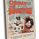 Oswald The Lucky Rabbit In The Hunter 1931 Vintage Movie FRAMED CANVAS Print
