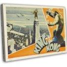 King Kong 1933 Vintage Movie Framed Canvas Print 38
