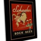 Bock Vintage Ad Art 20x16 Framed Canvas Print Decor