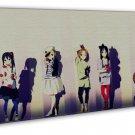 K On Anime Art 20x16 Framed Canvas Print Decor