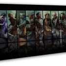 Dragon Age Inquisition Characters Art 20x16 FRAMED CANVAS Print Decor