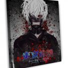 Tokyo Ghoul Japanese Anime Art 20x16 Framed Canvas Print Decor