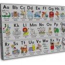 My Abc Alphabet Learn Table Art 20x16 Framed Canvas Print Decor