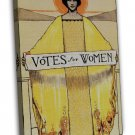 Votes For Women Vintage Political Wall Decor 20x16 FRAMED CANVAS Print