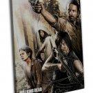 The Walking Dead Art Wall Decor 20x16 Framed Canvas Print