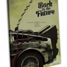 Back To The Future 1 2 3 Movie Art 20x16 FRAMED CANVAS Print Decor