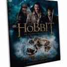 The Hobbit 1 2 3 Movie Art 20x16 Framed Canvas Print Decor