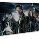 Doctor Who TV Show Art 20x16 Framed Canvas Print Decor