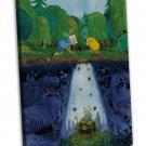 Adventure Time With Finn Jake Art 20x16 FRAMED CANVAS Print Decor