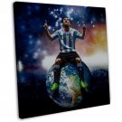 Lionel Messi Football Star Art 20x16 Framed Canvas Print Decor