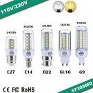 New E27/E14/G9/GU10/B22 LED lamp 9W 12W 15W 20W 25W SMD 5730 led light 220V
