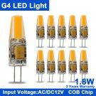 10Pcs Mini G4 COB LED Lamp/Bulb/Light 12 v led bulb AC&DC 1.8W 3W COB Light