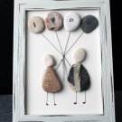 Love is in the Air Pebble Art - Unique Handmade Gift. Original Home Decor, Wall Decor, Stone Art
