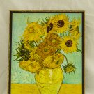 Vase with Twelve Sunflowers, Painting by Vincent van Gogh, print canvas with handmade finishes