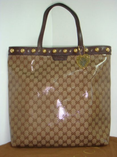 Gucci 'Babouska' Tote (Medium) - Brown Crystal Leather