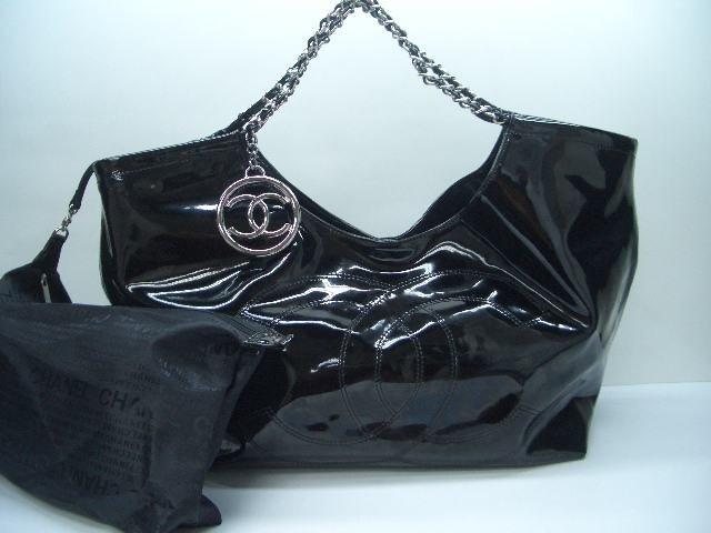 Chanel Coco Cabas Tote - Black Patent