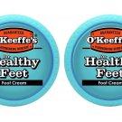 O'Keeffe's K0320001-2 Healthy Feet Foot Cream in Jar (2 Pack), 3.2 oz