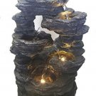 Major-Q Decoration Feng Shui Rock Like Waterfall Fountain With LED Light, 14' H