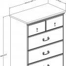 South Shore Noble 5-Drawer Dresser, Dark Mahogany