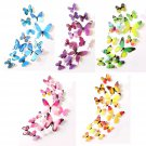 60Pcs Removable 3D Colorful Butterfly Wall Stickers DIY Art Decor Craft Big Size