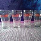 Vintage Coca-Cola 10 oz Clear Glasses Set of 4