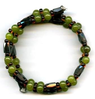 Earth Tone Magnetic Wrap Bracelet/Anklet/Necklace