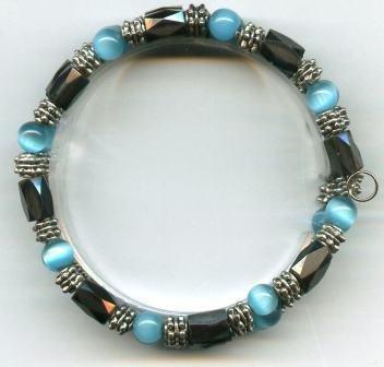Turquoise Cat's Eye Magnetic Wrap Bracelet/Anklet
