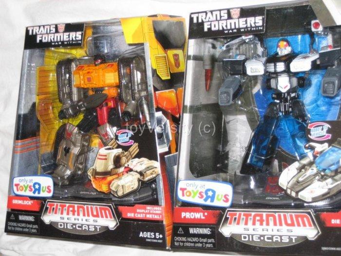 Transformers Titanium GRIMLOCK & PROW War Within  Generation 1 G1 Die-cast Action Figure