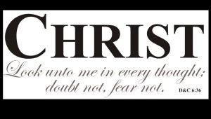 Christ: Look unto me in every thought; doubt not, fear not.