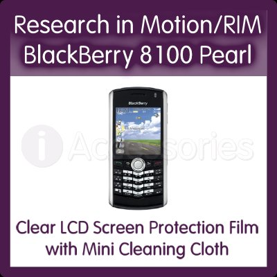 Clear LCD Screen Protector for the Research in Motion/RIM BlackBerry 8100 Pearl