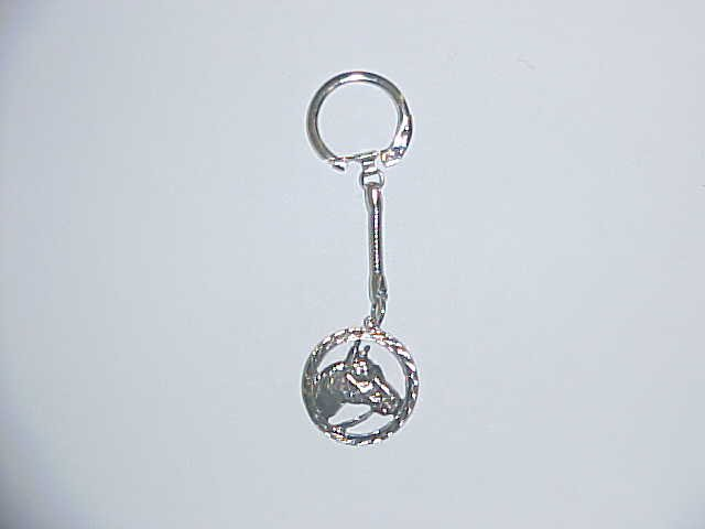 Keyring - Horse in circle