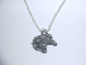 Necklace - Two horse heads