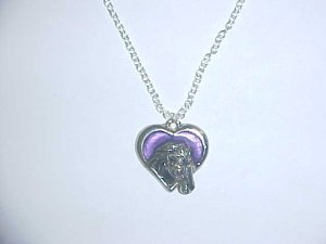 Necklace - Horse in coloured heart