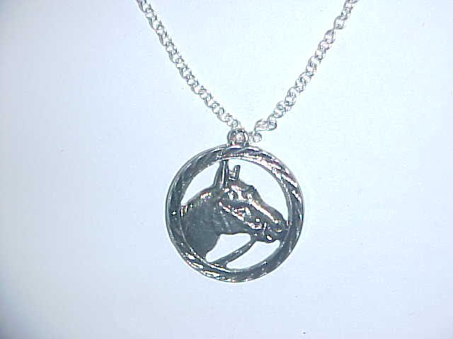 Necklace - Horse in circle