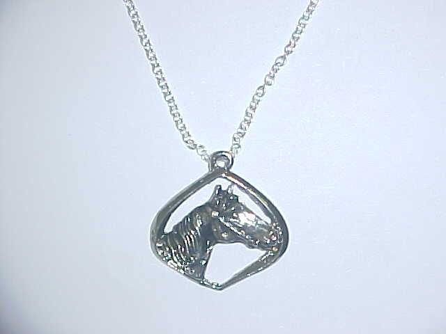 Necklace - Horse in diamond