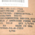 AMERICAN POWER DEVICE JANTX1N752A-1 D/C 9210 Mil-Spec Part Axial Qty-10