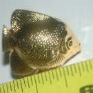 Saltwater Gold Colored Angel Fish Draw Pull / Cabinet Knob With Screw Quantity-3