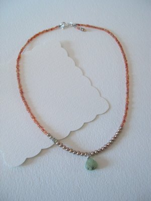 Pearl and Blue Opal Necklace
