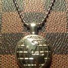 Silver Globe Pendant Necklace