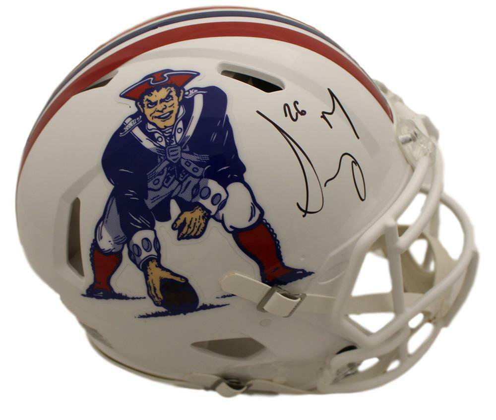732e4a5e644 Sony Michel Autographed Signed New England Patriots Speed Proline FS Helmet  BECKETT