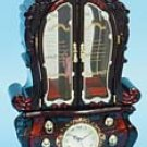 French Style Musical Jewelry Cabinet with Clock