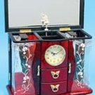 Musical Jewelry Box with Clock
