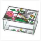 Hummingbird Stained Glass Jewelry Box