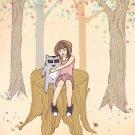 Melissa's Tree illustration print - peach