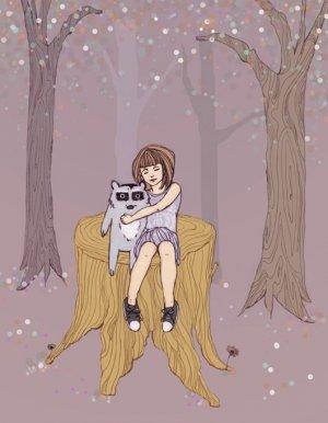 Melissa Tree illustration print - violet