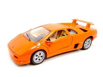 LAMBORGHINI DIABLO ORANGE 1:18 DIECAST MODEL
