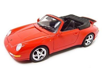 1994 PORSCHE 911 CARRERA CABRIOLET RED 1:18 MODEL BURAGO