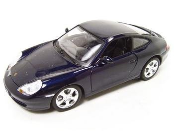 PORSCHE 911 CARRERA 4 BLUE 1:18 DIECAST MODEL BURAGO