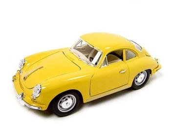 1961 PORSCHE 356B COUPE YELLOW 1:18 DIECAST MODEL BURAGO